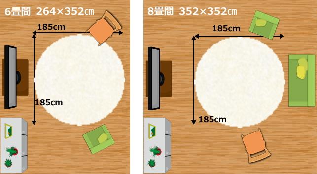 185cm円形ラグ